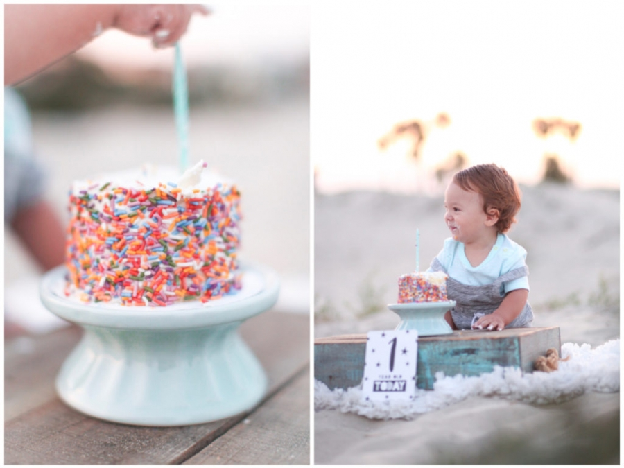 Orange County Baby Photographer I Snider Photo And Design Chases First Birthday Cake Smash